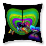 Green Image Throw Pillow