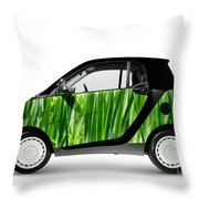 Green Mini Car Throw Pillow