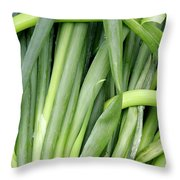 Green Onion Market Bergen Throw Pillow