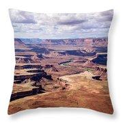 Green River View Throw Pillow