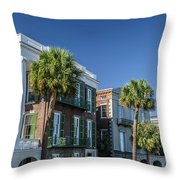 Columns By The Sea Throw Pillow