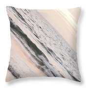 Water On The Beach Throw Pillow