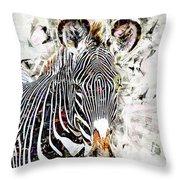 Grevys Zebra, Samburu, Kenya Throw Pillow