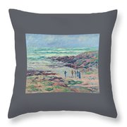 Grey Weather Throw Pillow
