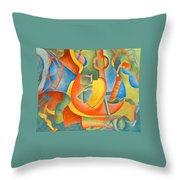 Grosse Guitare Throw Pillow