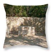 Groupo Mecanxoc At The Coba Ruins  Throw Pillow