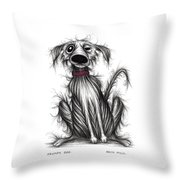 Grumpy Dog Throw Pillow