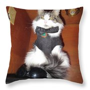Guarding The Shades Throw Pillow