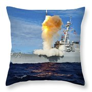 Guided Missile Destroyer Uss Hopper Throw Pillow