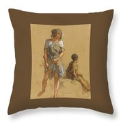 Guillaumet Gustave Achille Throw Pillow