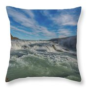 Gulfoss. Throw Pillow