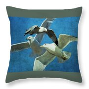 Gulls In Flight Throw Pillow