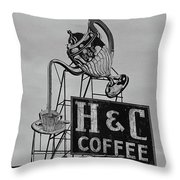 H C Coffee Throw Pillow