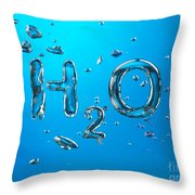 H2o Formula Made By Oxygen Bubbles In Water Throw Pillow
