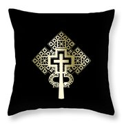 Habesha Holy Cross Throw Pillow