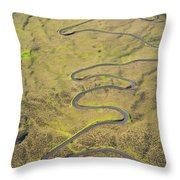 Haleakala Highway Throw Pillow