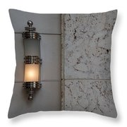 Half Lit Wall Sconce Throw Pillow
