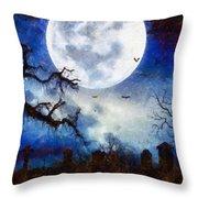 Halloween Horror Night Throw Pillow