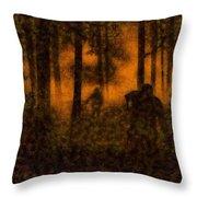 Halloween Horror Zombie Rampage Throw Pillow