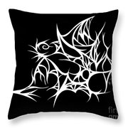 Hallowweb Throw Pillow