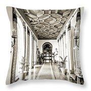 Hallway Of Elegance Throw Pillow