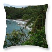 Hamoa Beach Maui Hawaii Throw Pillow