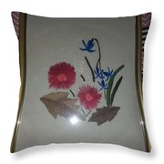 Hand Embroidery Throw Pillow