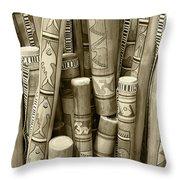 Hand Painted Rain Sticks Throw Pillow