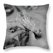 Hands At Work.  Throw Pillow