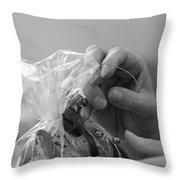 Hands Creating. Throw Pillow