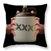 Hands Holding Moonshine Throw Pillow