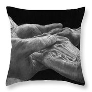 Hands Of Love Throw Pillow by Jyvonne Inman