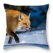 Handsome Mr. Fox Throw Pillow
