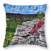 Hanging Rock State Park Throw Pillow
