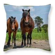 Hanging With Friends Throw Pillow