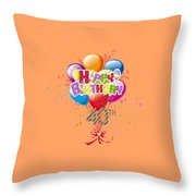 Happy 40th Birthday Throw Pillow