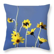 Happy Daisies Throw Pillow