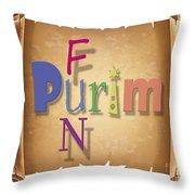 Happy Joyous Purim  Throw Pillow