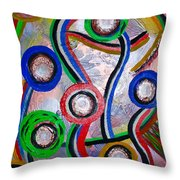 Happy People Throw Pillow