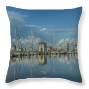 Harbor Morning Throw Pillow