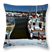 Harbor View. Throw Pillow