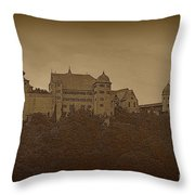 Harburg Castle - Digital Throw Pillow