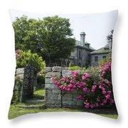 Harkness Memorial Park Flowers Throw Pillow