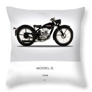 Harley Davidson Model S Throw Pillow