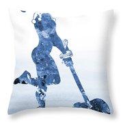 Harley Quinn-blue Throw Pillow