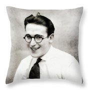 Harold Lloyd, Legend Of The Silver Screen Throw Pillow