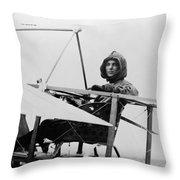 Harriet Quimby (1875-1912) Throw Pillow