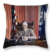 Harry S. Truman Throw Pillow
