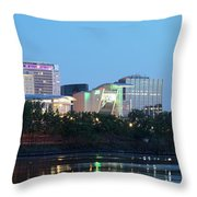 Hartford Skyline Panorama Throw Pillow