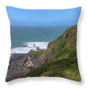 Hartland Point - England Throw Pillow